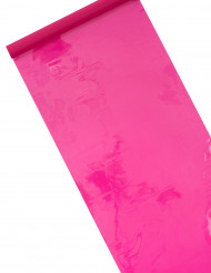 Chemin de table brillant-mat Fuchsia 5 m