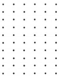 60 Perles autocollante noir 7mm