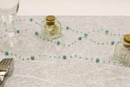 Guirlande de perles turquoise 2,5 cm
