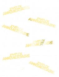 Confettis de table Joyeux Anniversaire dorés 15 g