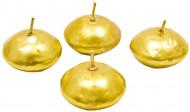4 Bougies flottantes dorées