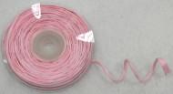Rouleau de raphia avec fil métallique rose