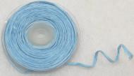 Rouleau de raphia avec fil métallique bleu ciel