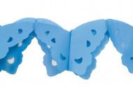 Guirlande papier papillons bleue 4 m