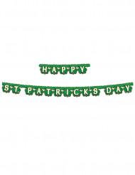 Guirlande Happy St. Patrick's Day verte 2,1 m x 10,8 cm