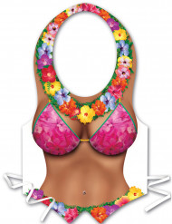 Tablier plastique femme Hawaï