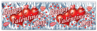 Guirlande grise métallisée Happy Valentine's Day
