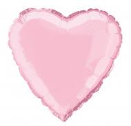 Ballon aluminium coeur rose 45 cm