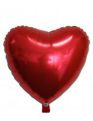 Ballon aluminium coeur rouge métallisé 45 cm