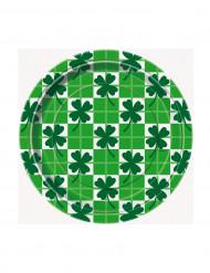 8 Petites assiettes en carton Saint-Patrick 18 cm