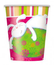 8 gobelets carton Lapin Coloré