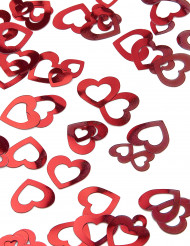 Confettis coeurs rouges