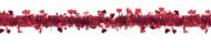 Guirlande rouge brillante avec coeurs Saint Valentin