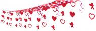 Décoration à suspendre coeur et cupidon Saint-Valentin