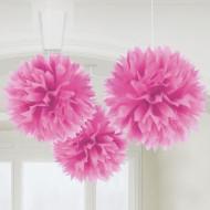 Décorations à suspendre boule rose