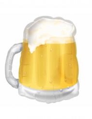 Ballon aluminium chope de bière jaune 58 cm