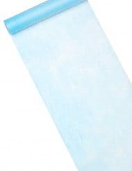 Chemin de table bleu clair 30 cm x 10 m