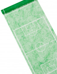 Chemin de table vert motif terrain de foot 5 m