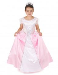 Déguisement princesse fille rose et blanc