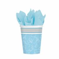 8 Gobelets bleus Communion garçon