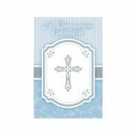 20 Cartes d'invitation bleues Communion garçon