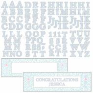 Bannière personnalisable bleue Communion
