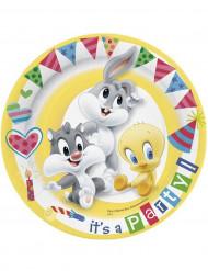 10 Assiettes en carton Baby Looney Tunes™ 23 cm