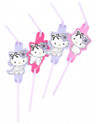 8 Pailles Charmy Kitty coeurs™
