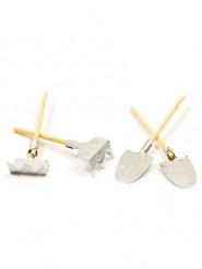 10 Décorations outils de jardin 5,5 cm