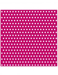 20 Serviettes en papier Rose à pois 33 x 33 cm