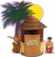 Centre de table en carton Hawaï 30 cm