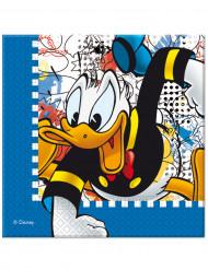 20 Serviettes en papier Donald™ 33 x 33 cm
