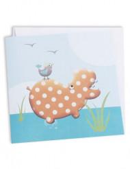 10 cartes carton Hippo