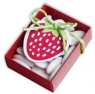 10 boîtes + vignettes carton fraise Fruitée