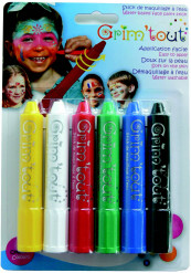 6 crayons rétractables de maquillage Grim'Tout® sans parabène