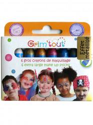 6 crayons de maquillage couleurs métalliques Grim Tout sans parabène