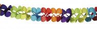 Guirlande papier multicolore 6 m