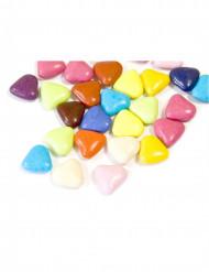 Dragées mini cœur chocolat multicolore 250 gr