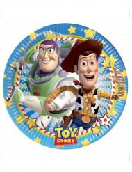 8 Assiettes en carton Toy Story star power™ 23 cm