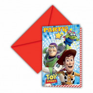 6 invitations carton Toy Story Star Power ™