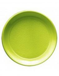 20 Assiettes vertes en plastique 22 cm