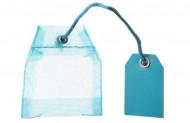 4 contenants sachets de thé organdi turquoise