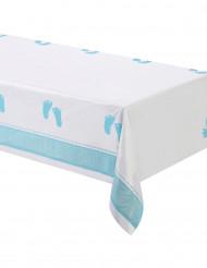 Nappe plastique Pieds Bleus 137 x 274 cm