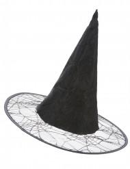 Chapeau de sorcière toile araignée adulte Halloween