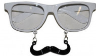 Lunettes blanches à moustache