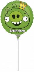 Ballon aluminum Angry Birds™ vert  23 cm