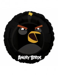 Ballon aluminum Angry Birds™ noir 45 cm