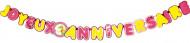 Guirlande Joyeux Anniversaire cartonnée Mon Poney