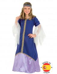 Déguisement bleu Reine Médiévale fille