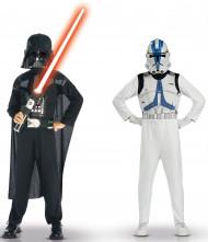 Déguisements Dark Vador et Clone trooper Star wars™ enfant